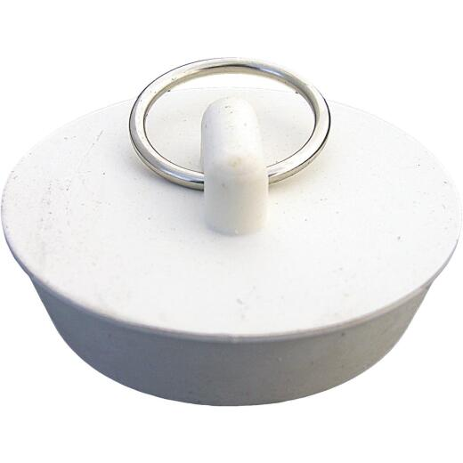 Lasco Hollow 1-5/8 In. White Sink Rubber Drain Stopper
