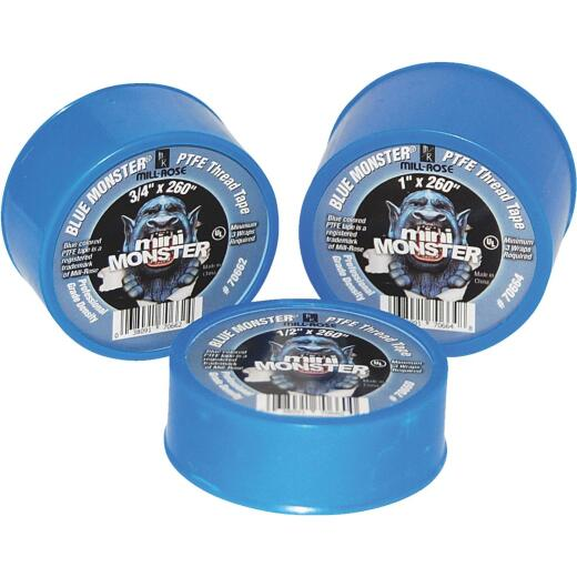 BLUE MONSTER 3/4 In. x 520 In. Blue Thread Seal Tape