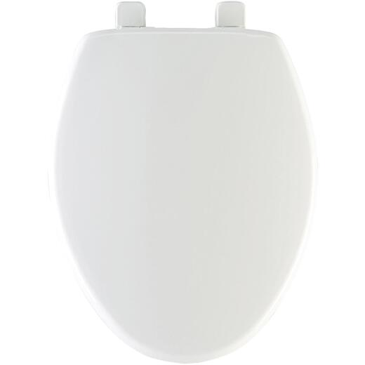 Mayfair Elongated Closed Front Slow Close White Plastic Toilet Seat