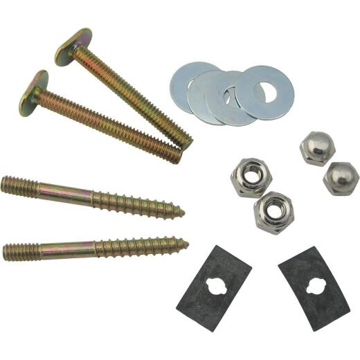 Lasco 1/4 In. x 2-1/4 In. Brass Plated Steel Toilet Bolts (2 Ct.)