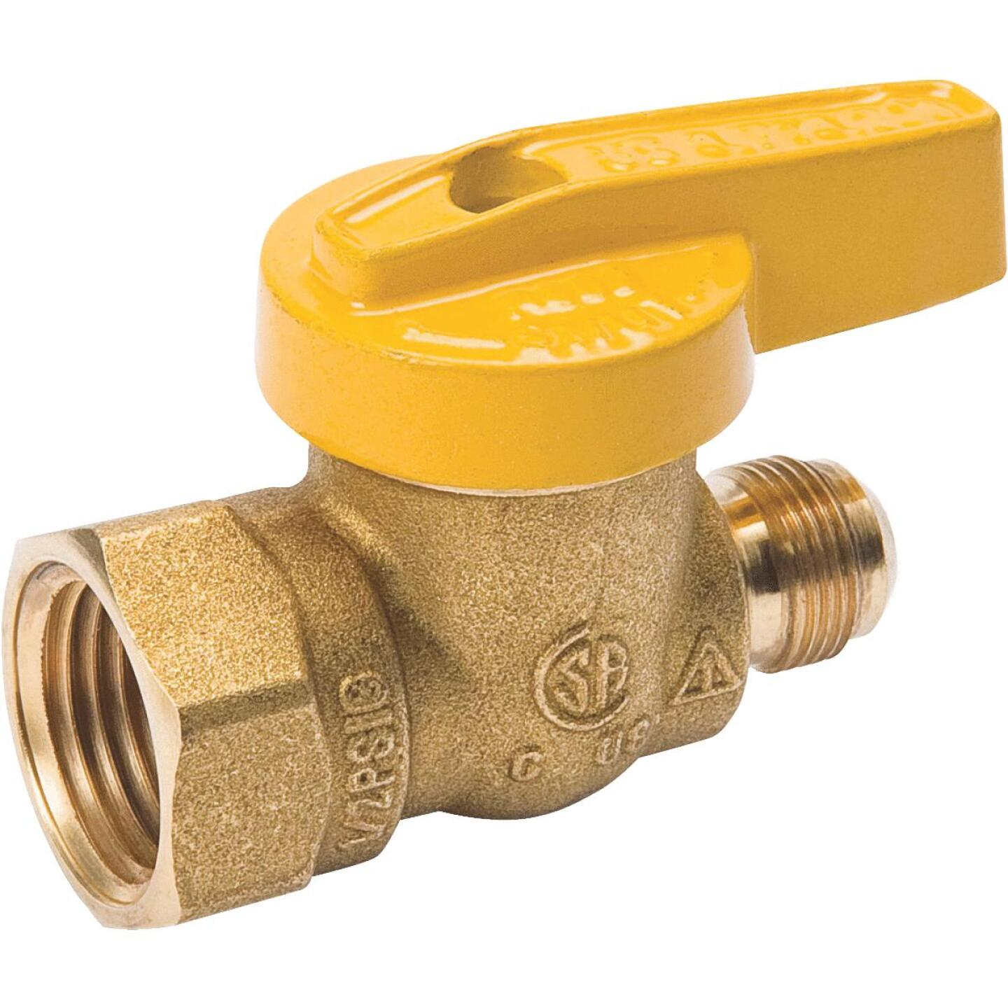 ProLine 9/16 In. x 1/2 In. x 9/16-24 Fine Flare Forged Brass Gas Valve Image 1