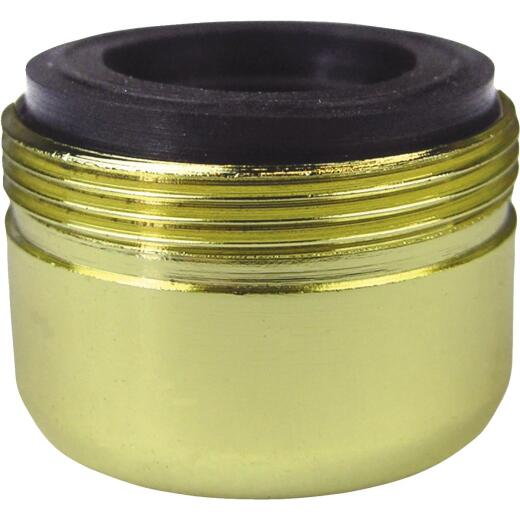 Lasco 1.2 GPM 55/64 In. Male Dual Thread Aerator, Polished Brass
