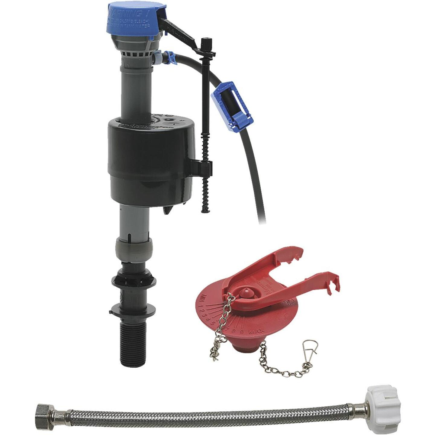 Fluidmaster PerforMAX Fill Valve, Adjustable Flapper & 12 In. Universal Click Seal Toilet Connector  Image 1