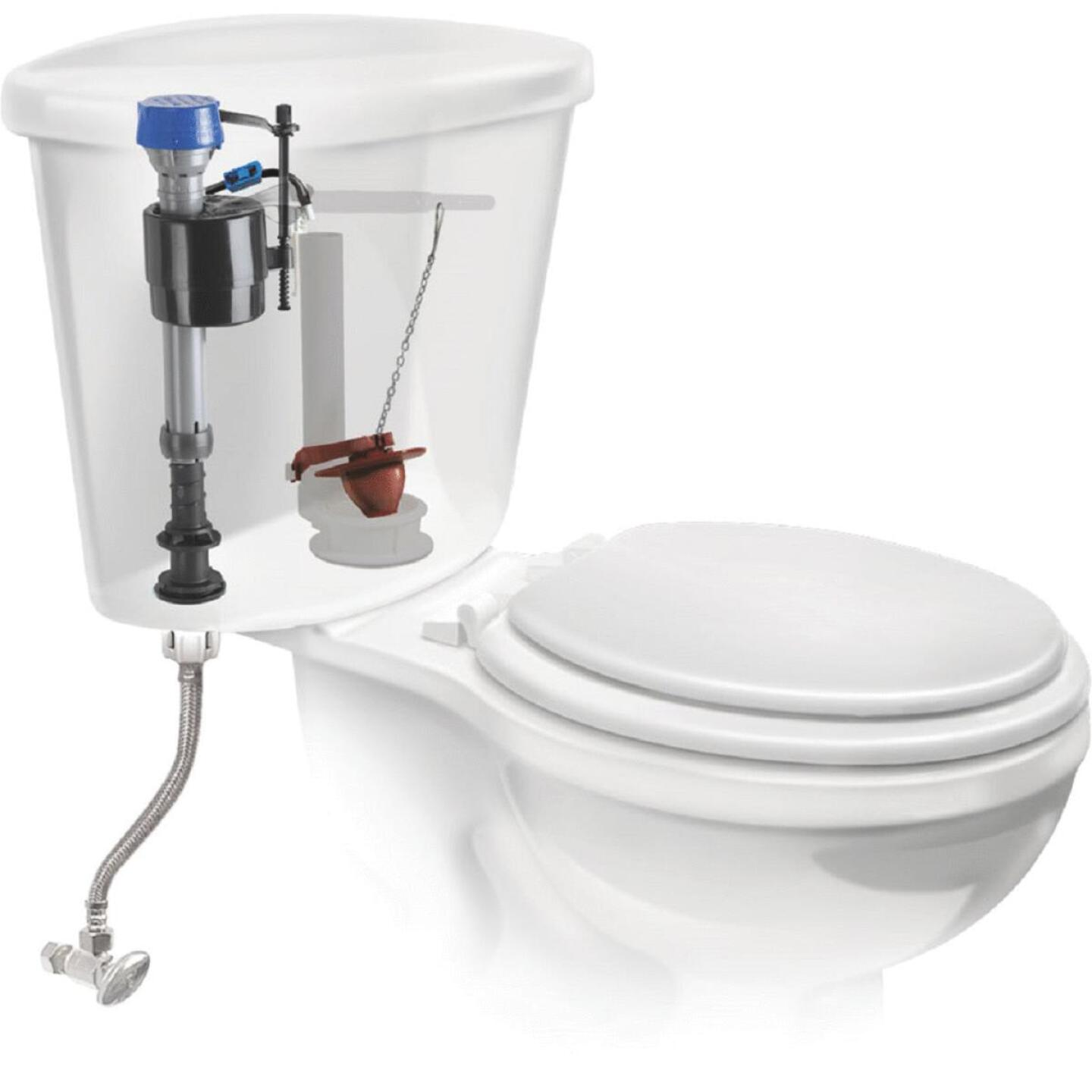 Fluidmaster PerforMAX Fill Valve, Adjustable Flapper & 12 In. Universal Click Seal Toilet Connector  Image 3