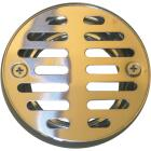 Lasco 3-1/4 In. Chrome Plated Grill Shower Drain Strainer Image 1