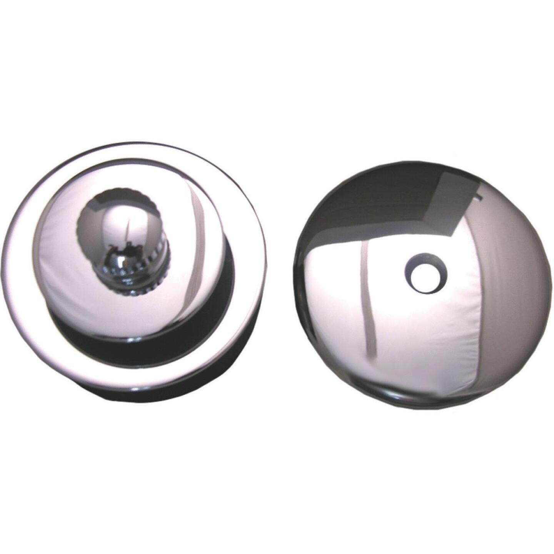 Lasco Polished Chrome Push Pull Bath Drain Trim Kit Image 1