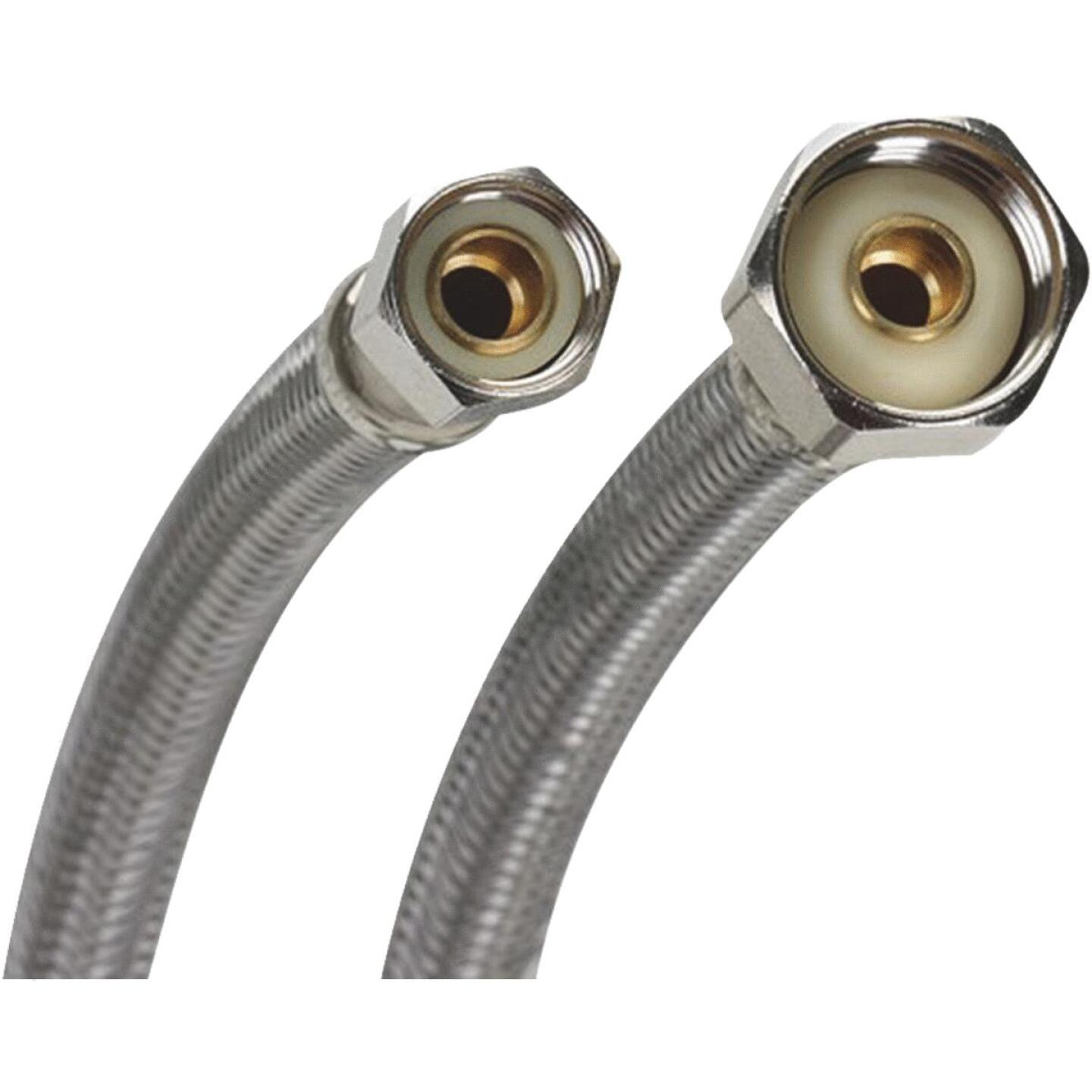 Fluidmaster 3/8 In. C x 1/2 In. FIP Polymer Core W/Braided stainless Steel Faucet Connector Image 1