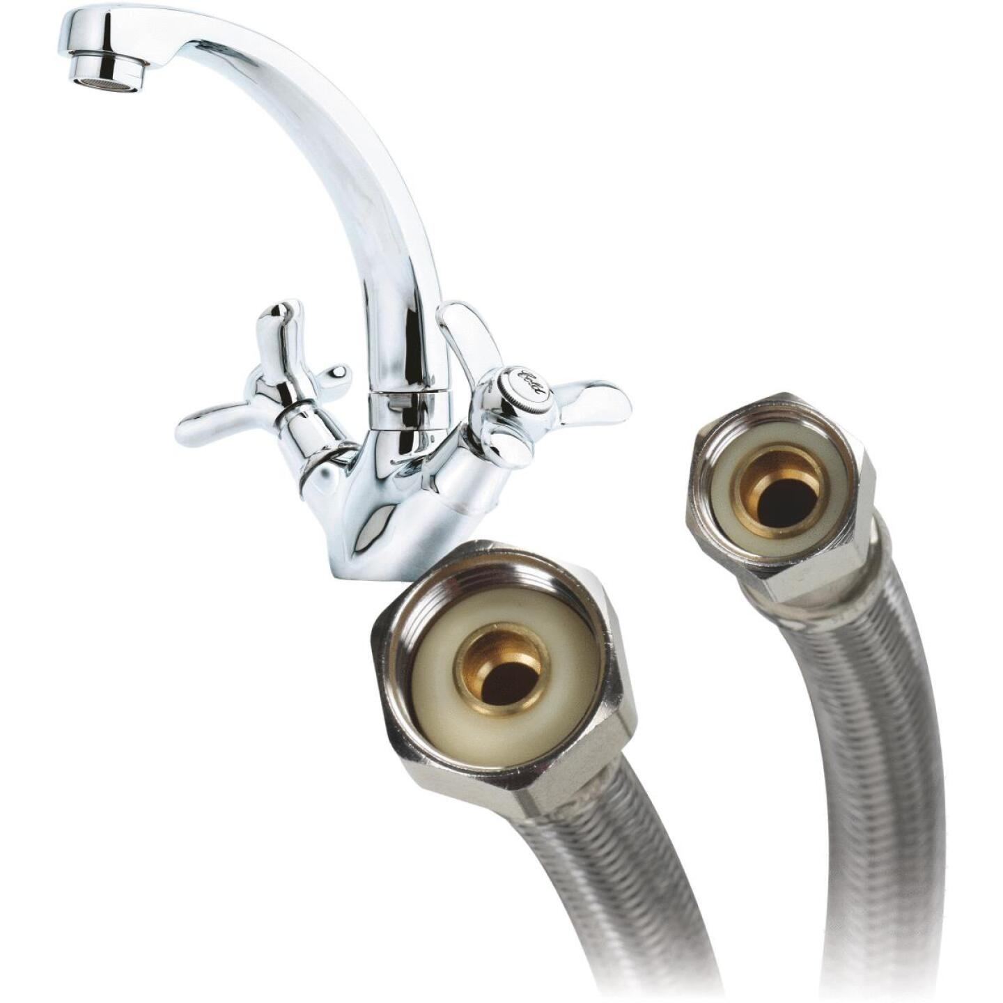 Fluidmaster 3/8 In. C x 1/2 In. FIP Polymer Core W/Braided stainless Steel Faucet Connector Image 3