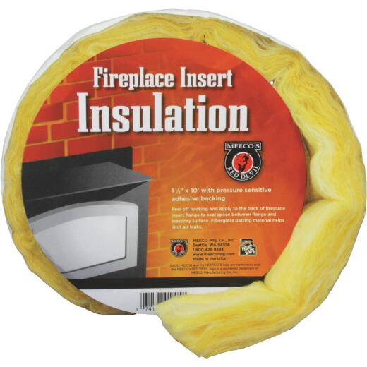 Meeco's Red Devil 1-1/2 In. x 10 Ft. Fiberglass Fireplace Insert Insulation