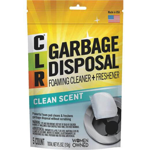 CLR Garbage Disposal Foaming Cleaner & Freshener (5-Count)