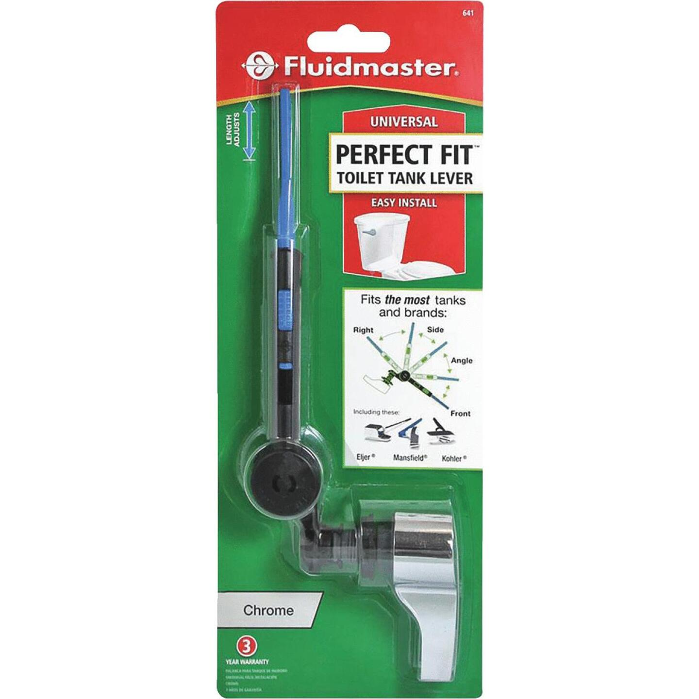Fluidmaster Perfect Fit Chrome Toilet Tank Lever Image 2