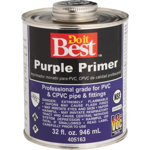 Do it Best 32 Oz. Purple Pipe and Fitting Primer for PVC/CPVC