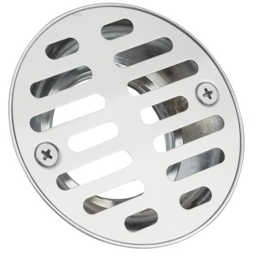 Do it 1-1/2 In. Cast Brass Shower Drain with 3-1/2 In. Stainless Steel Strainer