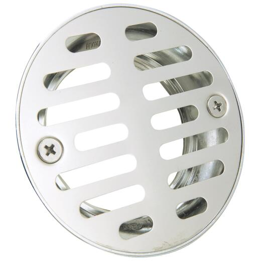 Do it 2 In. Cast Brass Shower Drain with 3-1/2 In. Stainless Steel Strainer
