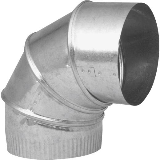 Imperial 24 Ga. 8 In. Galvanzied Adjustable Elbow