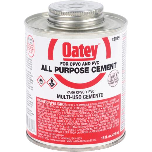 Oatey 16 Oz. Heavy Bodied Clear Multi Purpose Cement