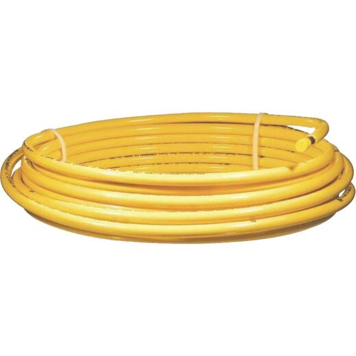 Mueller Streamline 5/8 In. OD x 50 Ft. Yellow Plastic Coated ACR Copper Tubing