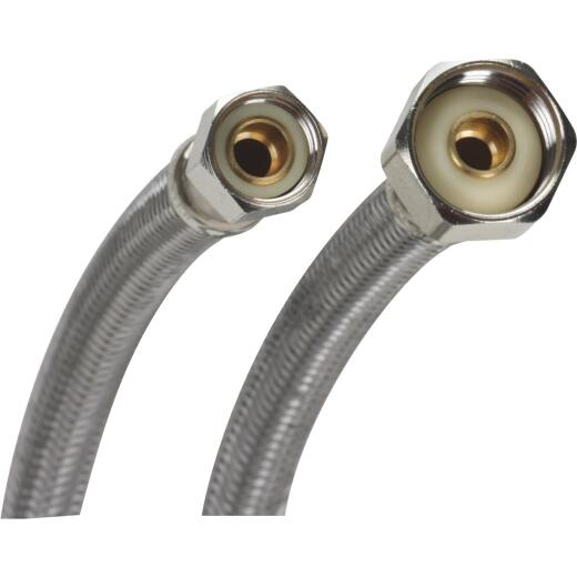 Fluidmaster 3/8 F X 1/2 In. F X 20 In. L Stainless Steel Faucet Connector