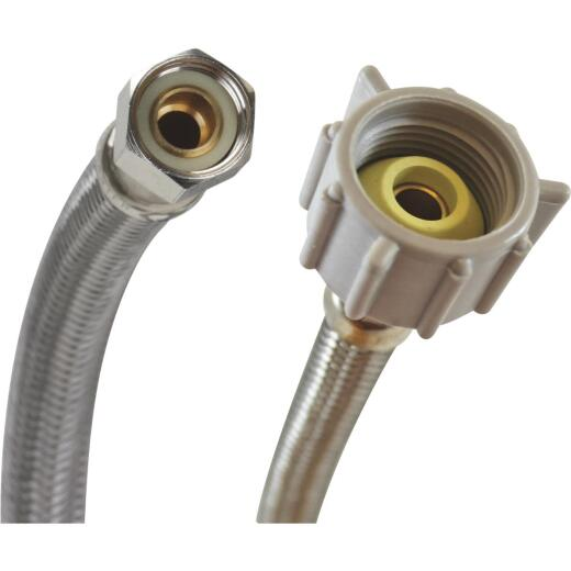 """Fluidmaster 3/8"""" Comp x 7/8"""" Ballcock x 12"""" L Braided Stainless Steel Toilet Connector"""