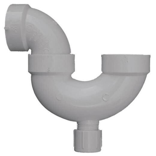 Charlotte Pipe 1-1/2 In. White PVC P-Trap with Cleanout