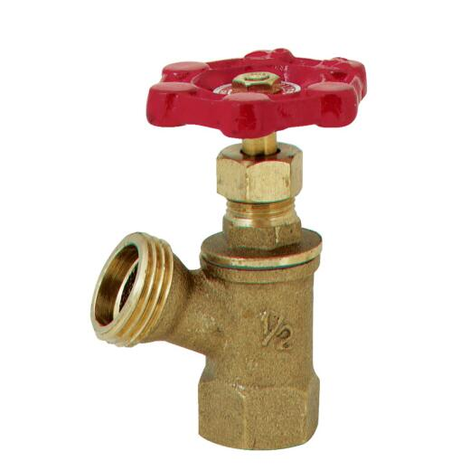 ProLine 1/2 In. FIP x 3/4 In. Hose Thread Brass Boiler Drain with Stuffing Box