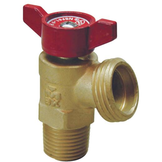 ProLine 1/2 In. MIP x 3/4 In. Hose Thread Brass Cast Iron Boiler Drain