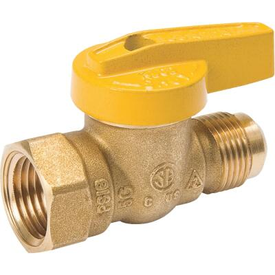 ProLine 1/2 In. Flare x 1/2 In. FIP Forged Brass Gas Ball Valve