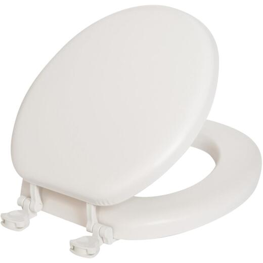 Mayfair Round Closed Front Premium Soft White Toilet Seat