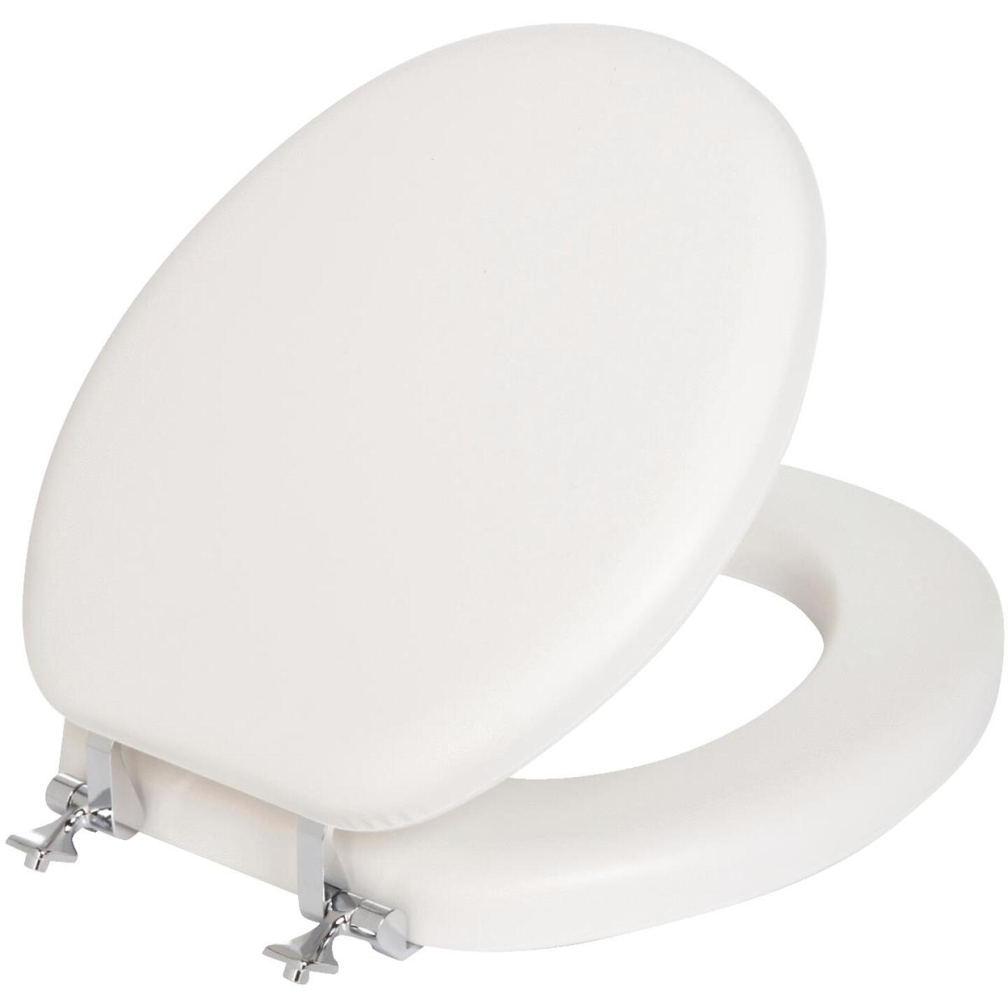Mayfair Round Closed Front Premium Soft Toilet Seat with Chrome Hinges Image 1