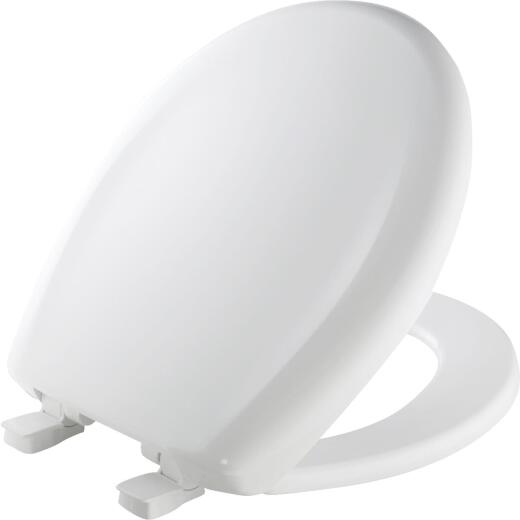 Mayfair Round Closed Front Premium Sweptback Slow-Close White Plastic Toilet Seat