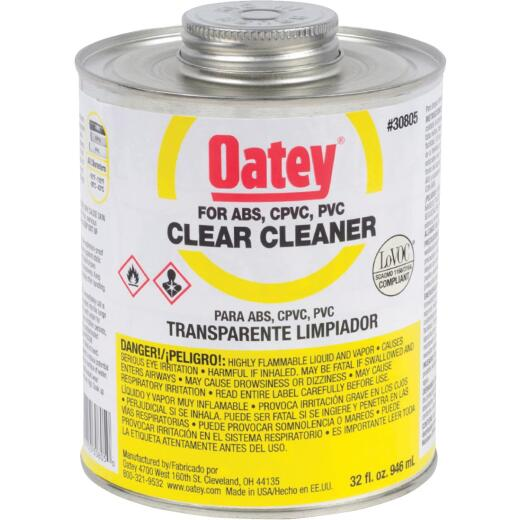 Oatey 32 Oz. All-Purpose Clear PVC Cleaner