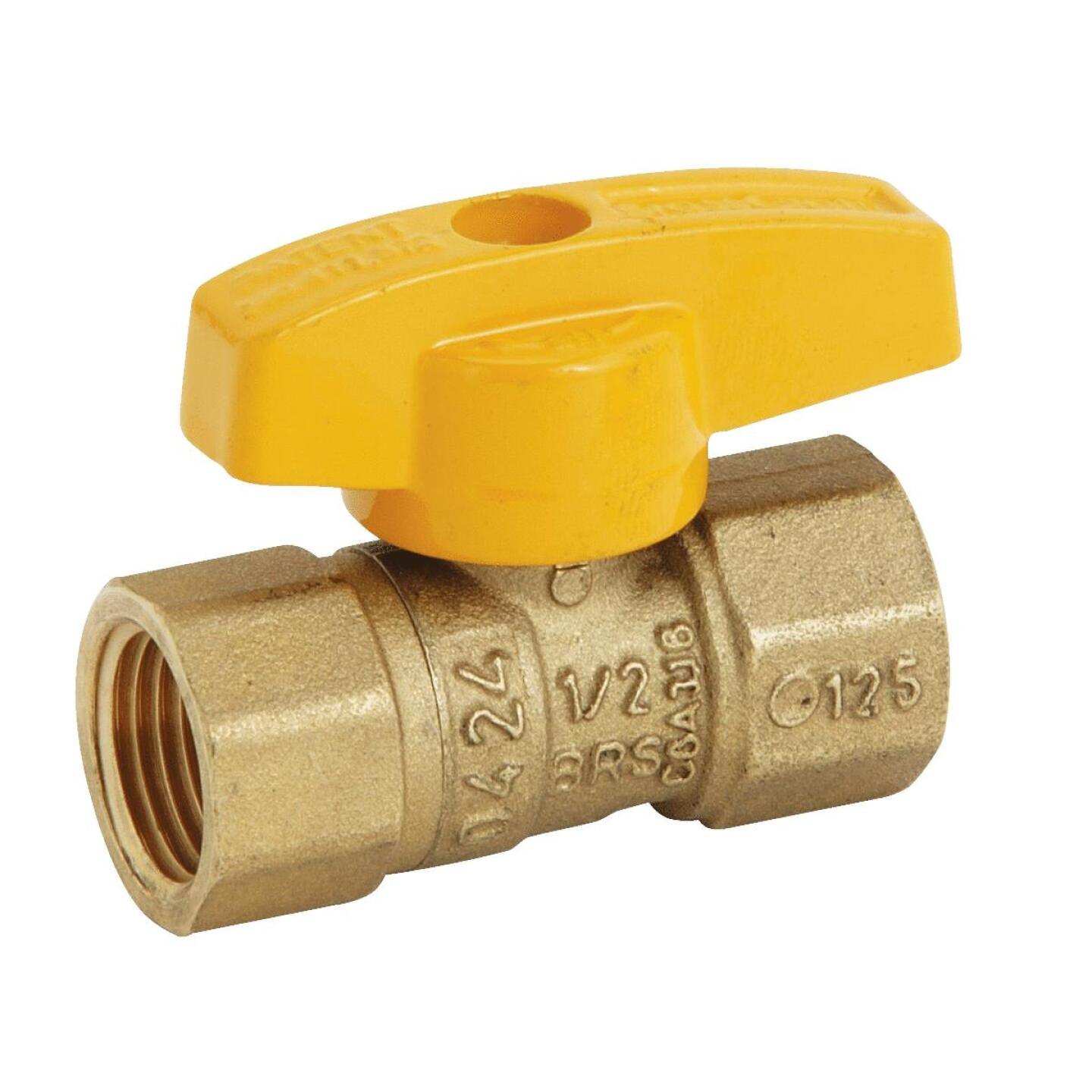 BrassCraft 1/2 In. Brass Rating Gas Ball Valve, Femaile Pipe Thhreads Image 1