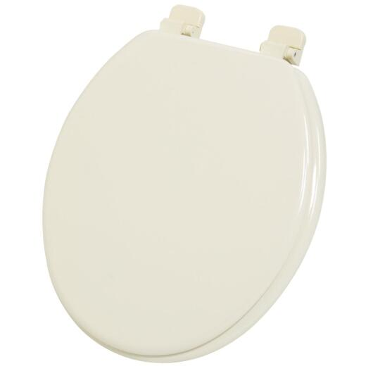Home Impressions Round Closed Front Bone Wood Toilet Seat