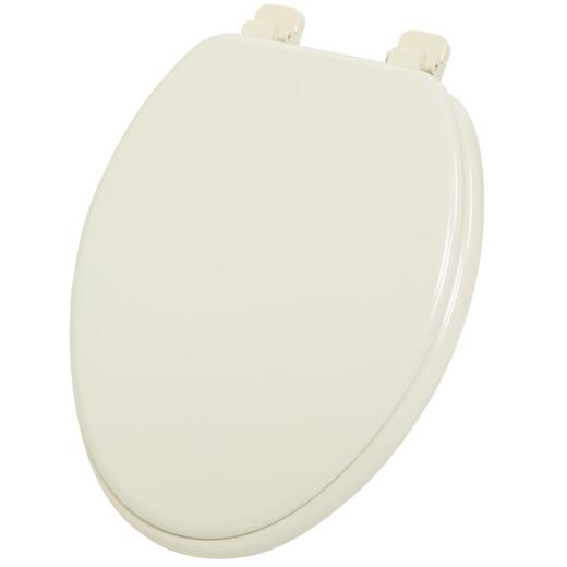 Home Impressions Elongated Closed Front Bone Wood Toilet Seat