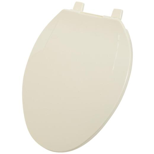 Home Impressions Elongated Closed Front Bone Plastic Toilet Seat