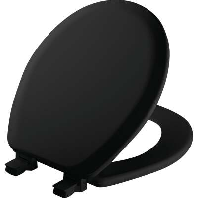 Mayfair Advantage Round Closed Front Black Wood Toilet Seat