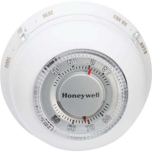 Honeywell Heat or Cool 40 F to 90 F Off White Round Wall Thermostat