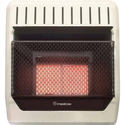 ProCom 20,000 BTU Natural Gas Vent-Free Infrared Plaque Gas Wall Heater
