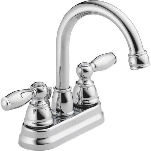 Peerless Apex Chrome 2-Handle Lever 4 In. Centerset Bathroom Faucet with Pop-Up