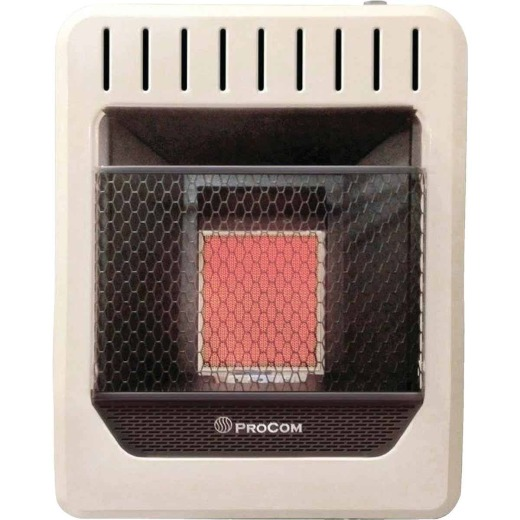 ProCom 10,000 BTU Natural Gas or Propane Gas Vent-Free Infrared Plaque Gas Wall Heater