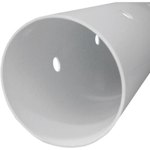 Genova 3 4 In. x 10 Ft. Perforated PVC Drain & Sewer Pipe, Belled End
