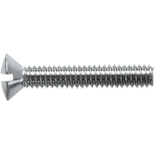 Danco 1/4 In.-20 x 1-1/2 In. Chrome-Plated Overflow Bath Plate Screw