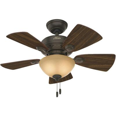 Hunter Watson 34 In. New Bronze Ceiling Fan with Light Kit