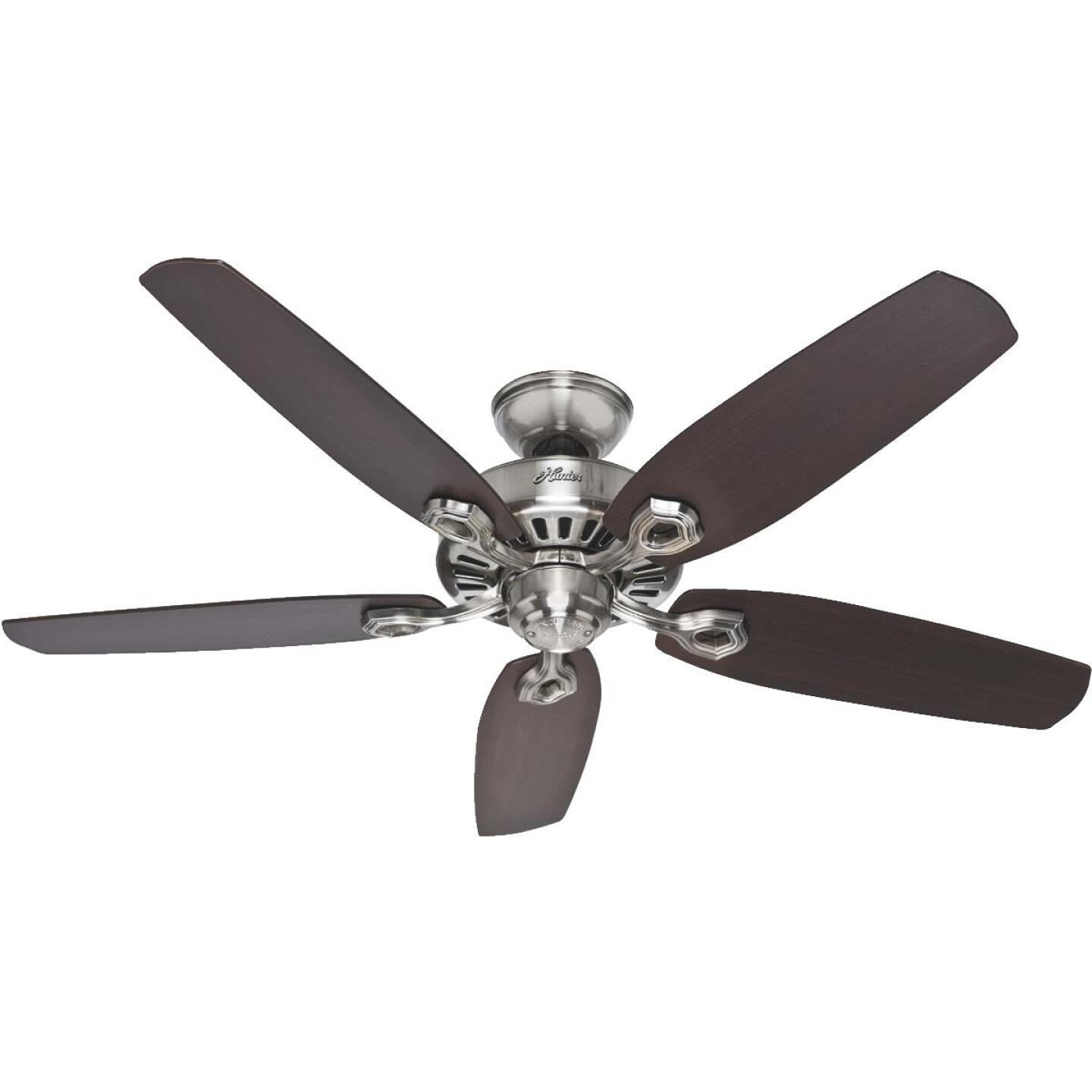 Hunter Builder Elite 52 In. Brushed Nickel Ceiling Fan Image 1