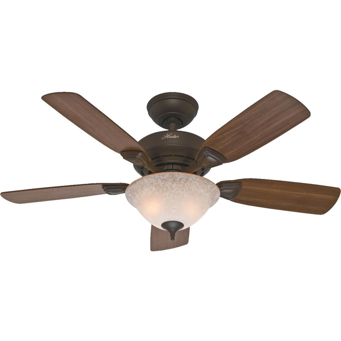 Hunter Caraway 44 In. New Bronze Ceiling Fan with Light Kit Image 1