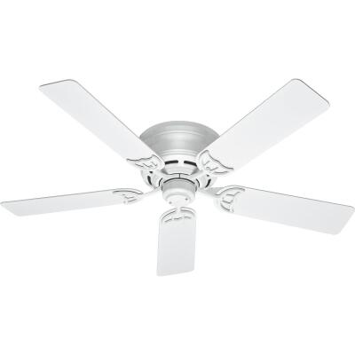 Hunter Low Profile III 52 In. White Ceiling Fan