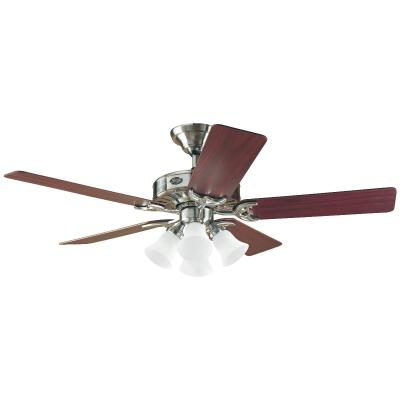Hunter Studio 52 In. Brushed Nickel Ceiling Fan with Light Kit