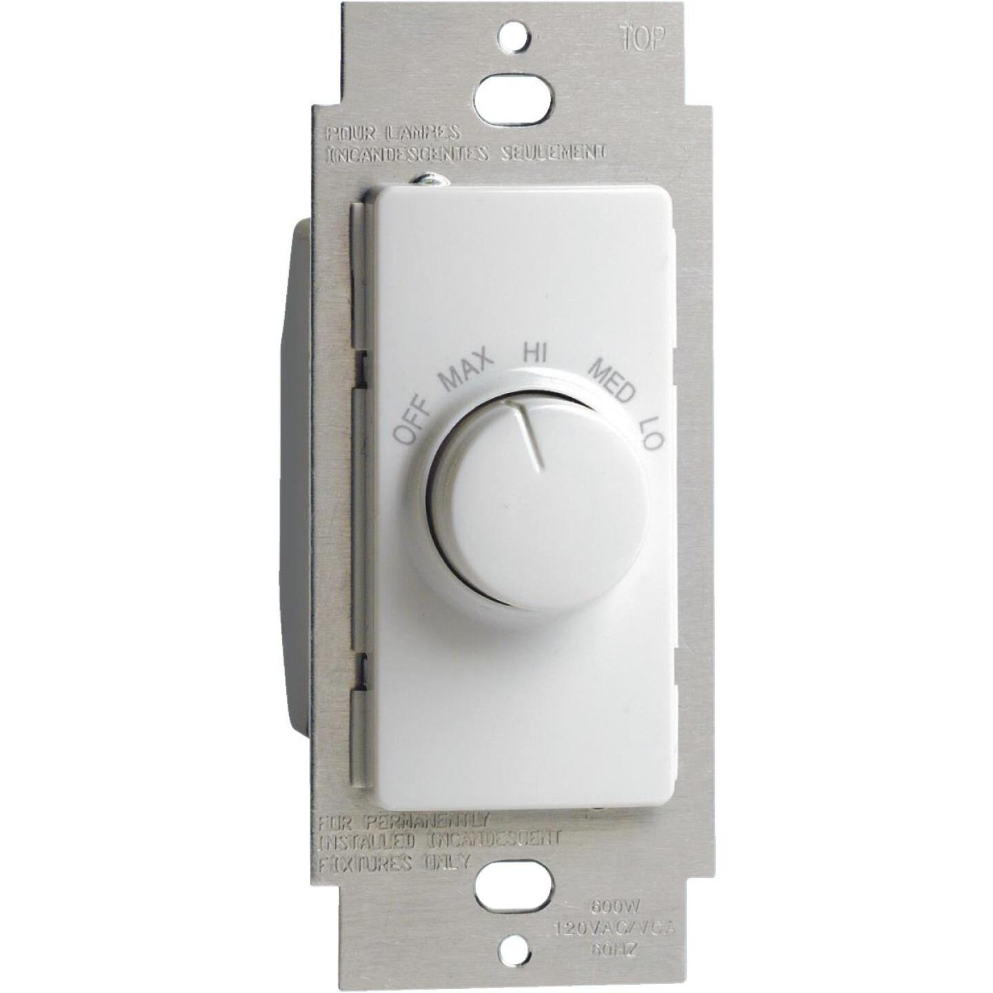 Leviton White 4-Speed Single Pole Rotary On/Off Fan Control Switch Image 1
