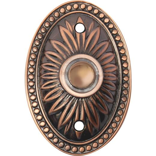 IQ America Wired Bronze Lighted Doorbell Button
