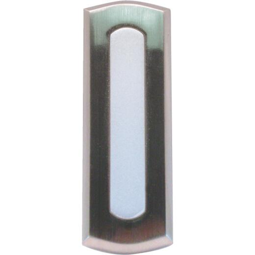 IQ America Wireless Satin Nickel Colonial Doorbell Push-Button